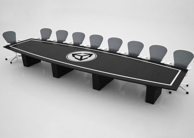 Unity Black Conference Room Table