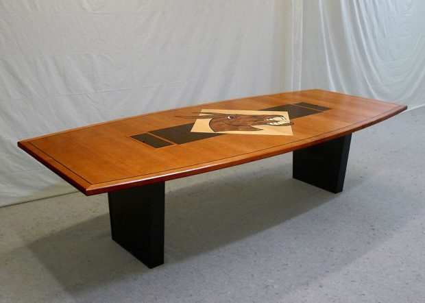 University of Central Missouri Boat Shaped Conference Table