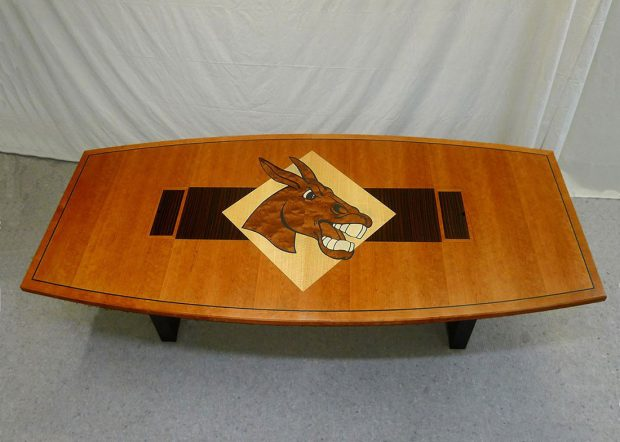 University of Central Missouri Boat Shaped Meeting Table