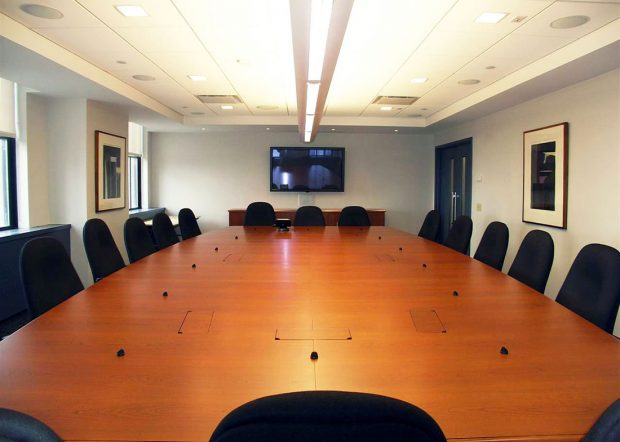 Verizon Custom Large Conference Table with Power Hatches
