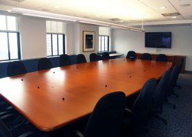 Verizon Large Conference Room Table wih Power Hatches