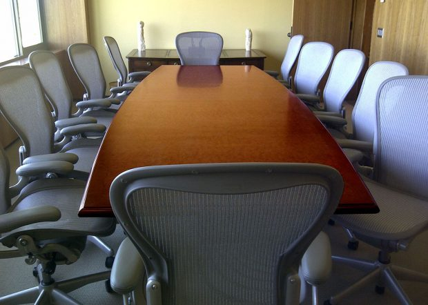 Vermont Technology Park Boat Shaped Conference Table