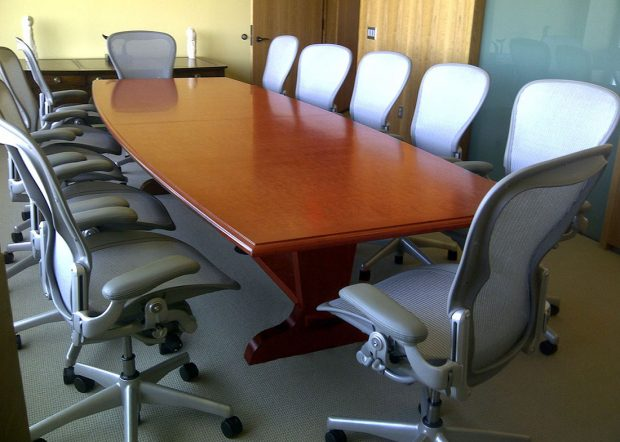 Vermont Technology Park Boat Shaped Office Meeting Table