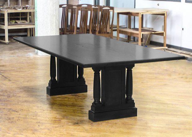Virtual Edge Custom Black Conference Table