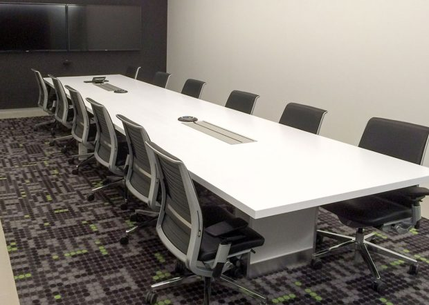 vXchnge Modern White Conference Table