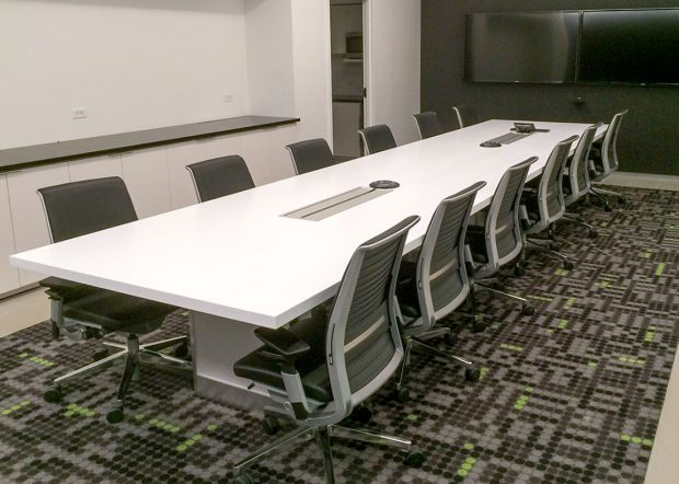 vXchnge White Conference Room Table