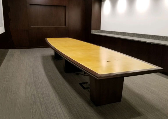 WatchGuard Maple Conference Table with Power Hatches