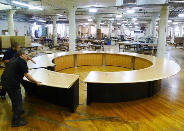 WECU Custom Circle Board Meeting Table