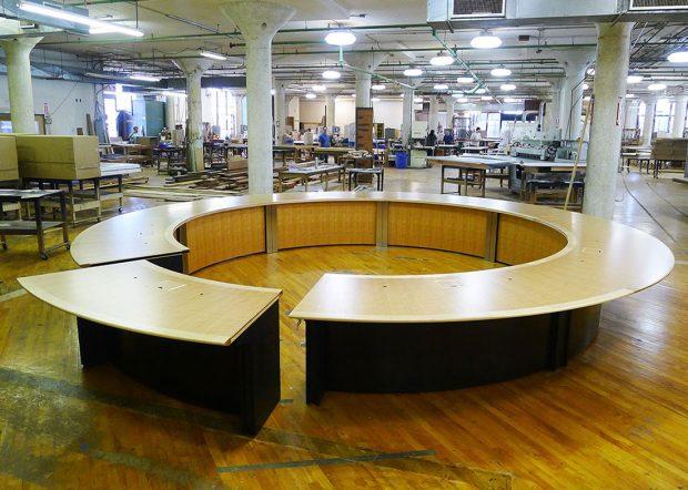 WECU Large Circle Custom Boardroom Tables