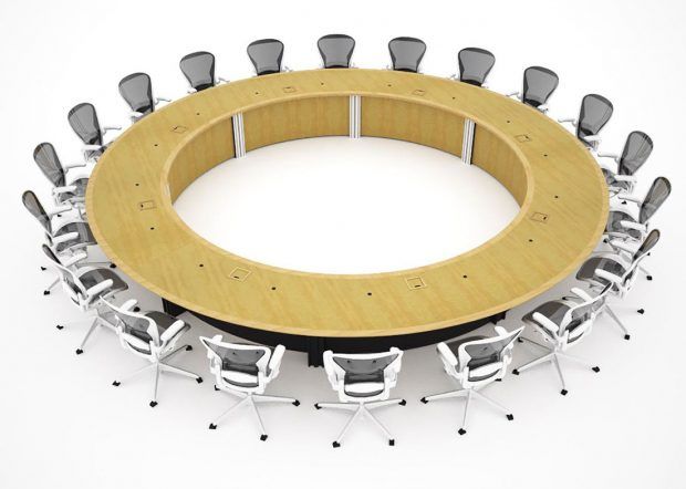 WECU Large Round Boardroom Conference Tables