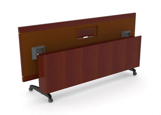 West Chester University Foundation Folding Conference Table on Wheels
