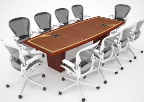 Western Air Defense Custom 10 Foot Conference Table