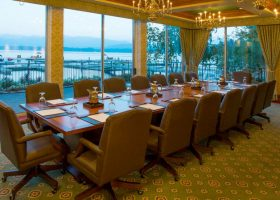 Whitetail Club Modular Conference Table with Power