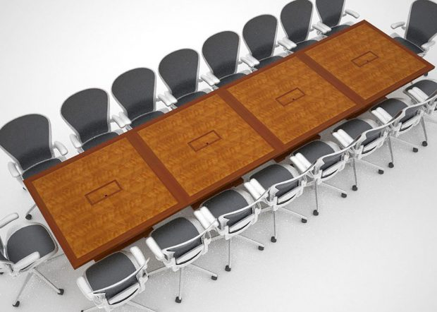 Whitetail Club Modular Rolling Conference Table