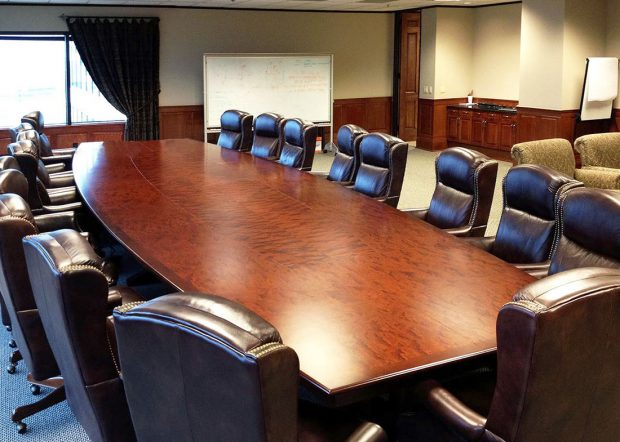 Williams Morgan Large Conference Table with Power