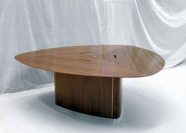 WK Custom Triangle Meeting Table with Power