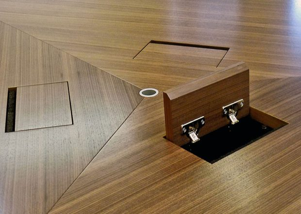 WK Triangular Conference Table with Power