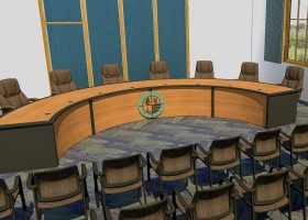 Yavapai College Curved Committee Meeting Table