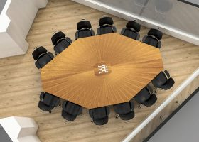 Zwilling Solid Wood Board Meeting Table