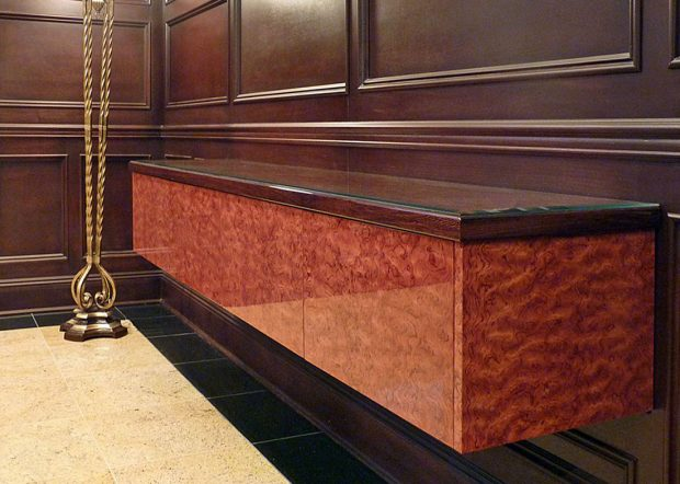 ACE Custom Wall Mounted Credenza