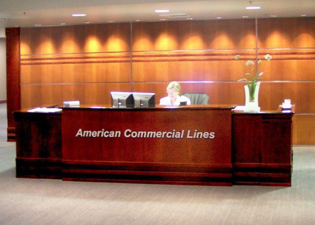 American Commercial Lines Custom Reception Desk