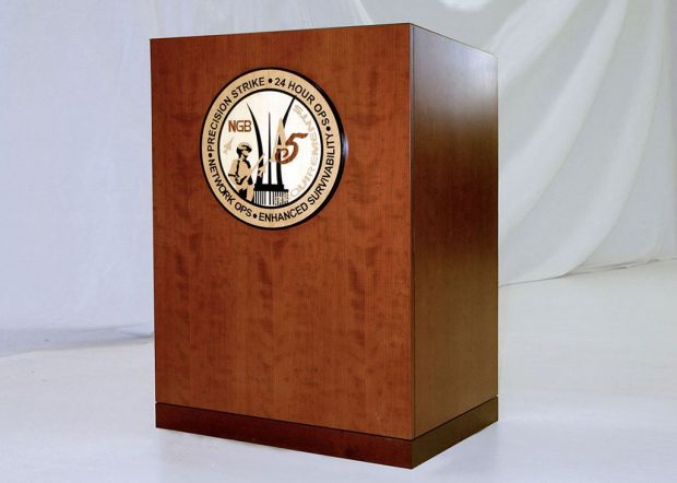 Andrews AFB Custom Lectern with Logo