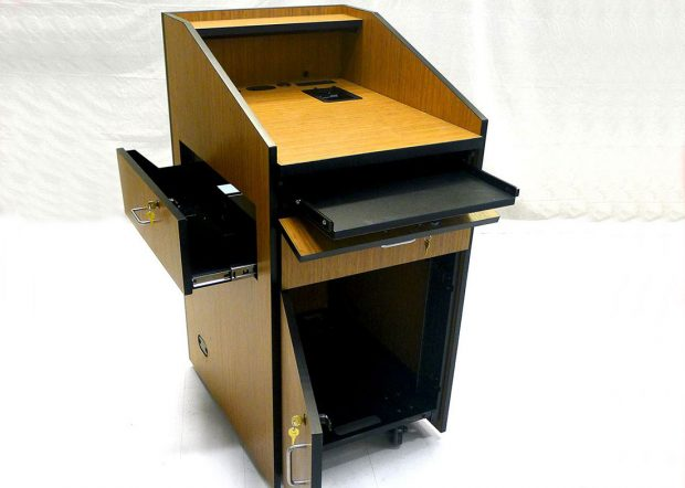 Bank Institution Lectern Podium with Rack System