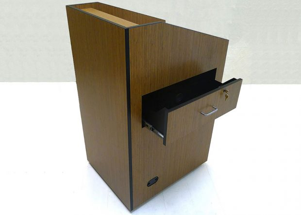 Bank Institution Standing Lectern with Drawers