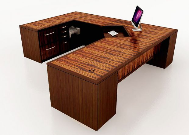 CB Large Custom L Shaped Desk
