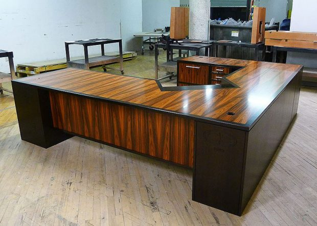 CB Large Custom Mahogany Desk