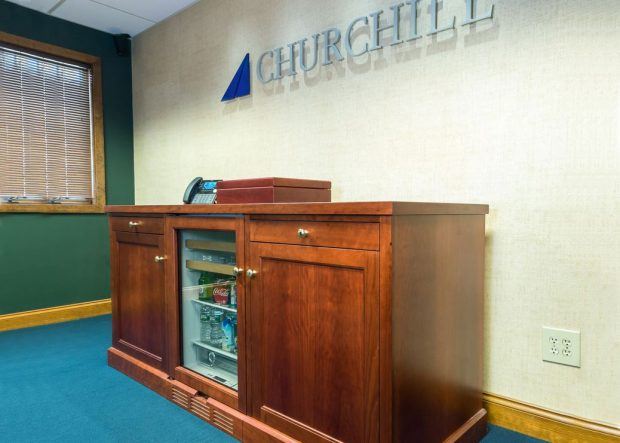 Churchill Cherry Credenza with Mini Fridge