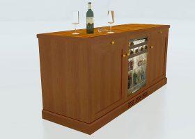 Churchill Custom Office Credenza with Refrigerator