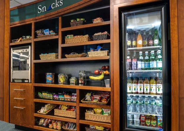 Churchill Custom Snack Shelves with Refrigerator