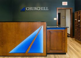 Churchill Engineers Custom Office Reception Desk