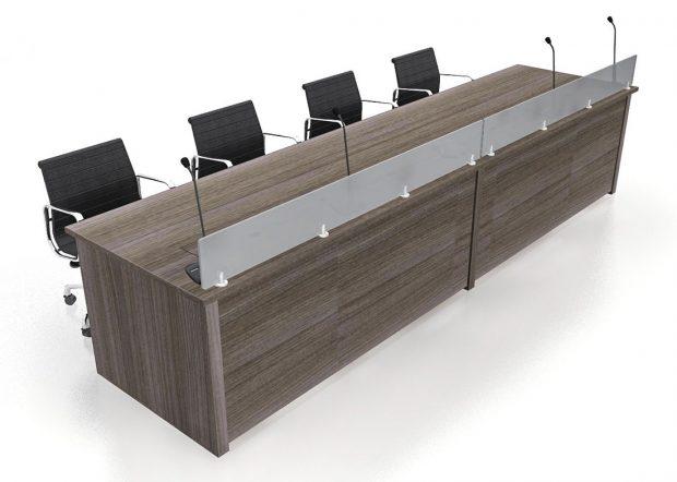 Convention Center Wood Reception Desk