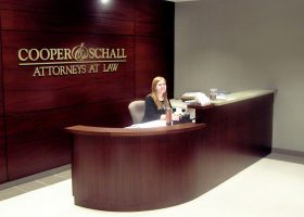 Cooper and Schall Curved Reception Desk