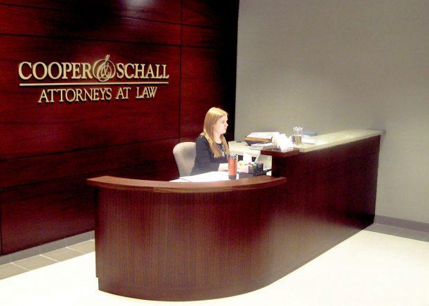 Cooper and Schall Custom Reception Desk