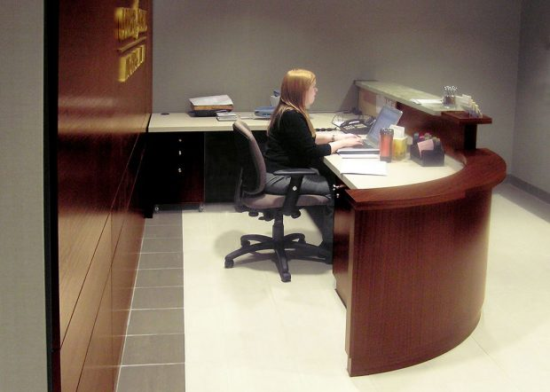 Cooper and Schall Office Reception Desk