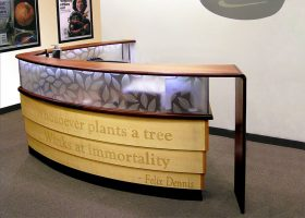 Dennis Publishing Custom Etched Reception Desk