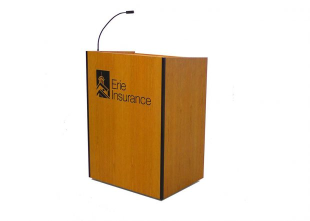 Erie Insurance Custom Lectern with Logo Inlay
