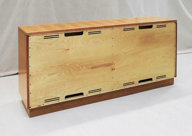 GI Supply Custom Wood Credenza with Wire Runs