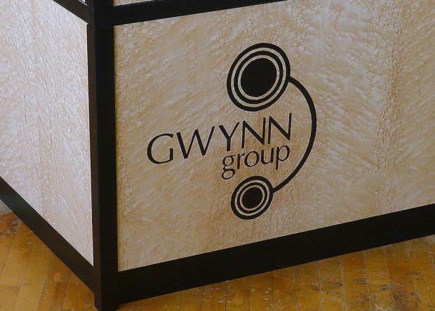 Gwynn Custom Reception Desk with Logo