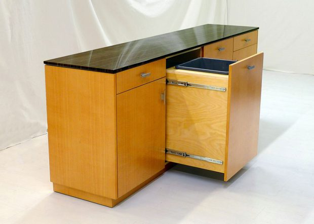 H2L2 Marble Top Modern Credenza