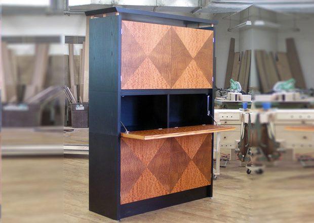 Lapensohn Custom Bar Cabinet