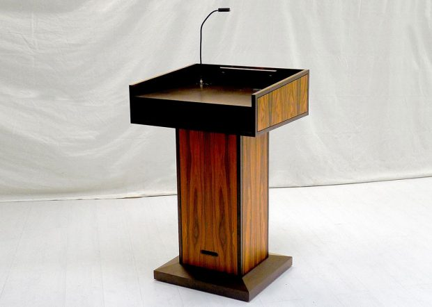 NASA CRF Custom Wood Lectern Podium