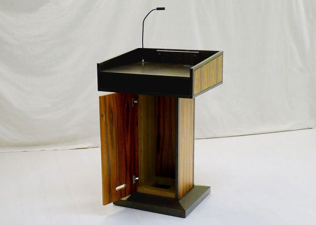 NASA CRF Custom Wooden Lectern