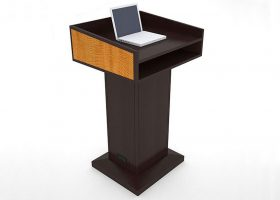 NASA GRC Custom Wood Standing Lectern