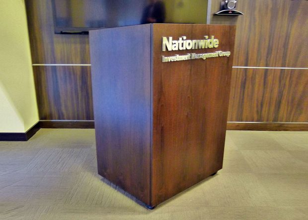 Nationwide Box Shaped Wooden Lectern