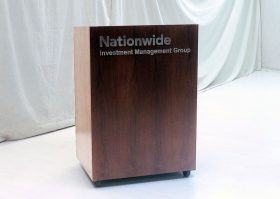 Nationwide Modern Lectern with Laser Cut Logo