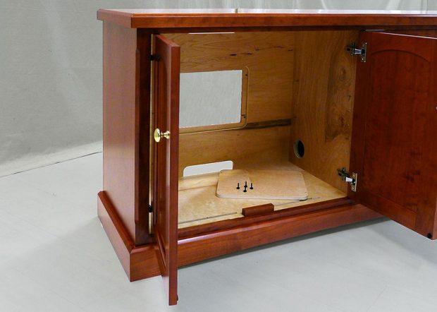 St Leos Custom AV Wood Credenza